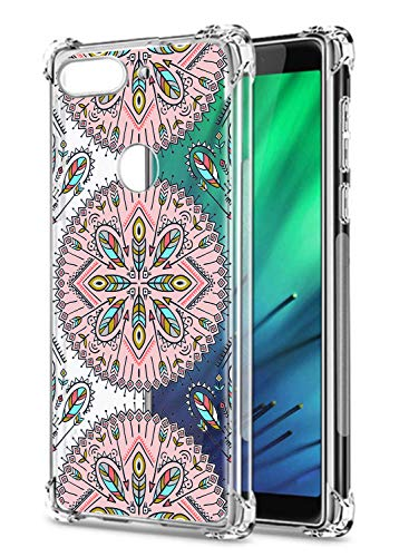 Oihxse Cristal Compatible con Nokia 2.3 Funda Transparente TPU Silicona Estuche Airbag Esquinas Anti-Choque Anti Rasguños Diseño Rosa Flower Caso (Flores B1)