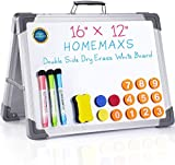 Magnetic Dry Erase Small White Board,16' x 12' Small Desktop Double Sided...