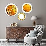 Diseño Circular con Temática Oro compatible con Kuadrus (Set Circular Motivo Oro, Set 1: Círculos de 73, 58 y 44cm de diámetro)