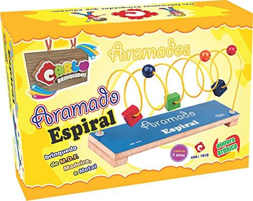 Carlu Brinquedos - Aramado Espiral Jogo de Coordenação, 3+ Anos, Multicolorido, 1919