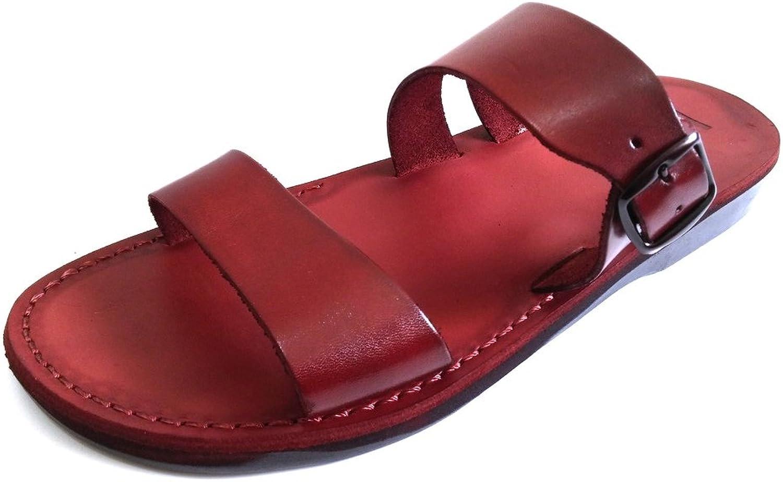 SANDALIM Läder Sandaler för Män Kvinnor Kvinnor Kvinnor Flippa Flops Grekiska Vacker Trötthet 11 Färgernas Dubbelstil av  begränsad utgåva