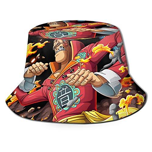 FXNOW Gorra unisex de pescadores Scratchmen Apoo Aka Roar O-N-E-Piece Moda Bucket Sombreros