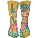 Bigtige Classics Compression Socks Love Rugby Tie-Dye Sport Sportif Personnalisé 50cm Long Chaussettes Crew pour Hommes Femmes