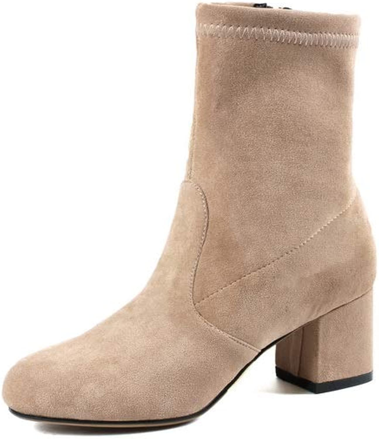 1TO9 Womens Casual Solid Bucket-Style Urethane Boots MNS03037
