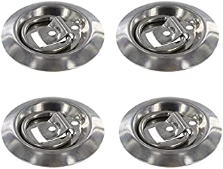 (4 pack) Stainless Steel Flush Mount D-Rings 800 lbs