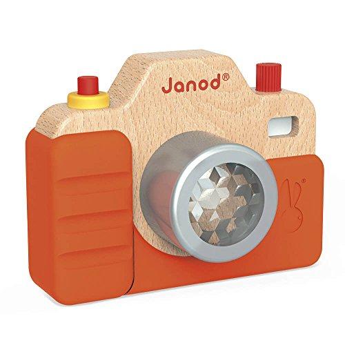 Janod - Appareil Photo Enfant en Bois - Son et Lumière - Jouet d'Imitation - dès 18 Mois, J05335