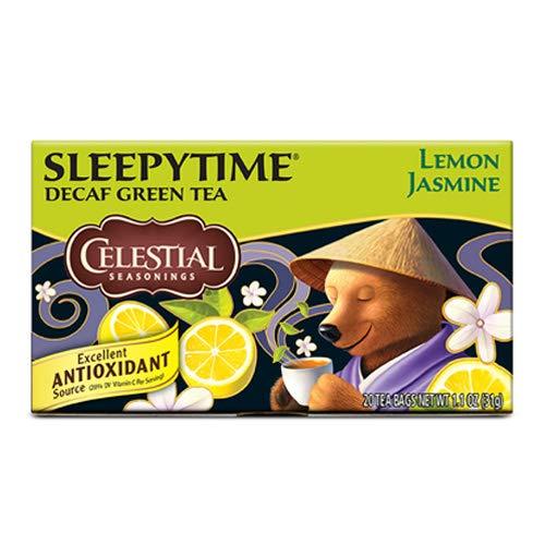 Celestial Seasonings 20 Bags Sleepytime Decaf Lemon Jasmine Green