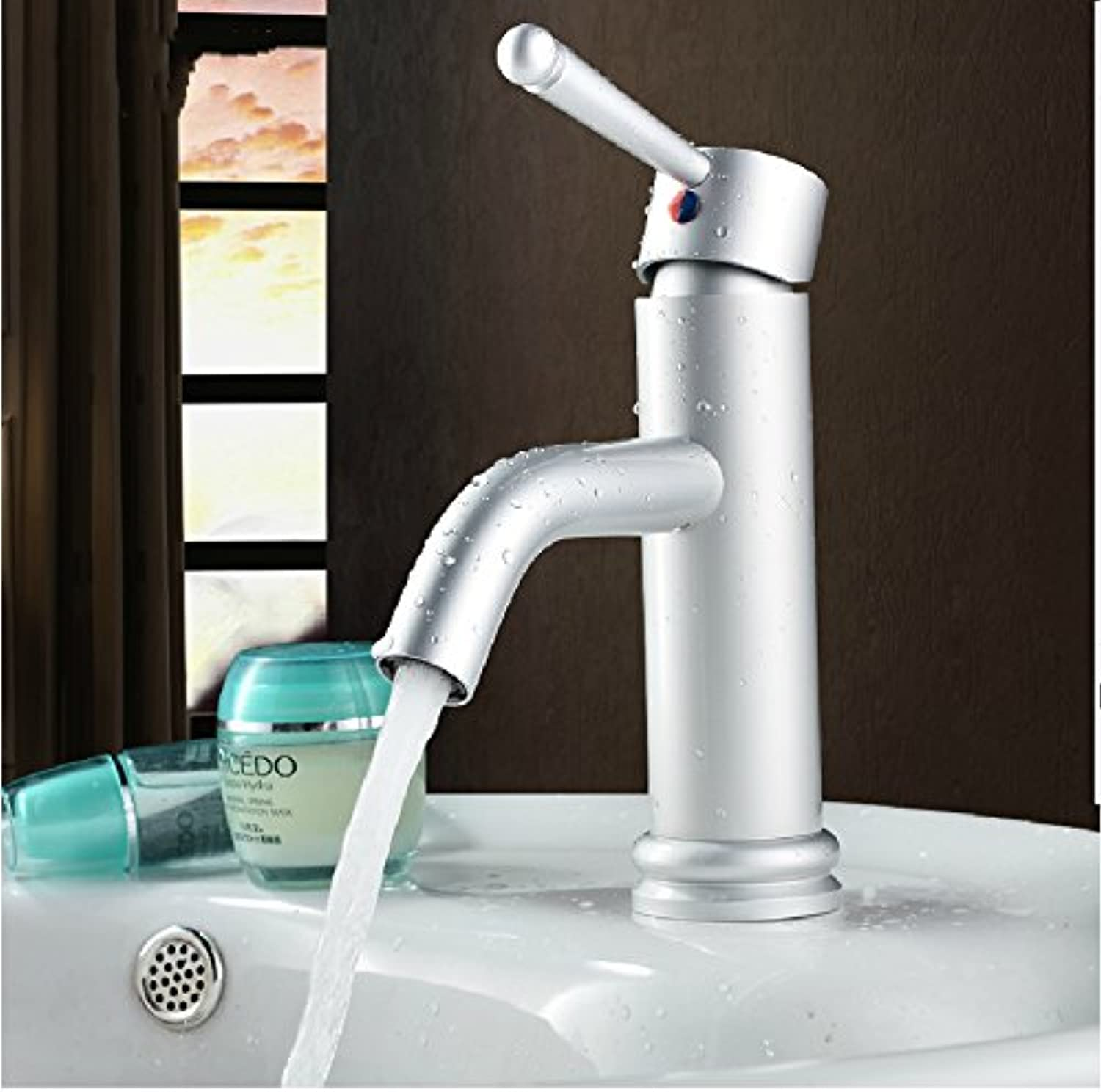 KHSKX- Space Aluminum Lead-Free Cylindrical Dual Cold And Heat Sink Mixer High quality faucets High quality faucets Won'T Rust Bath High quality faucet