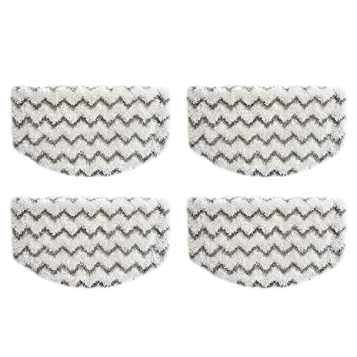 4 Pack Steam Mop Replacement Pads Compatible with Bissell Powerfresh Steam Mop 1940 1806 1544 1440 2075A 2685A Series, Part # 5938 & 203-2633, 1606668 & 1606669
