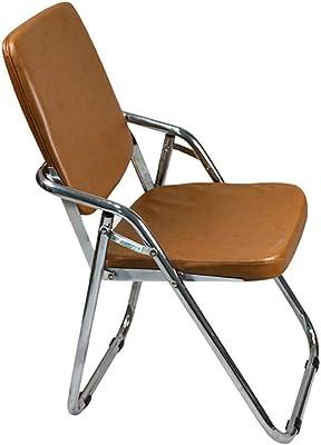 XUEPING 椅子カウンター椅子家庭用キッチン折りたたみダイニングルームスツールデスクハイバック4フィートアイアンバースツールブラウンシッティングチェア (サイズ さいず : One)