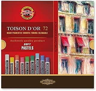Koh-I-Noor TOISON D'OR Soft Pastels, 72 Assorted Stick Set