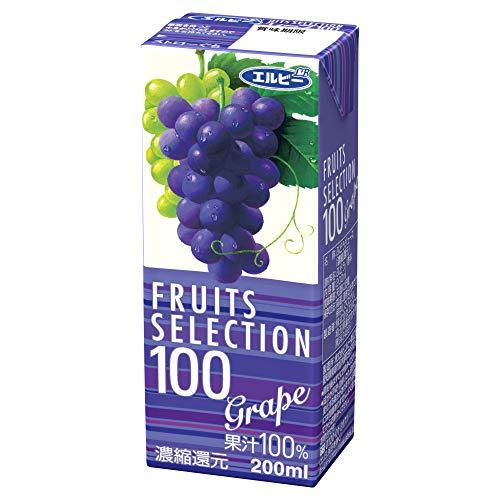 エルビー FRUITSSELECTIONグレープ100ケース 200X24 [0305]