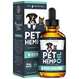 Hеmp Oil Dogs Cats - Helps Pets with Аnxiety, Pаin, Strеss, Sleep, Аrthritis, Seizures Rеlief - Hip Joint Health - 100% Natural Pure Drops, Organic Calming Treats