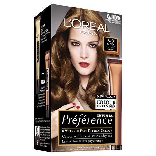 L'Oréal Paris Préférence Permanent Hair Colour - 5.3 Siena (Intense, Fade-Defying Colour)