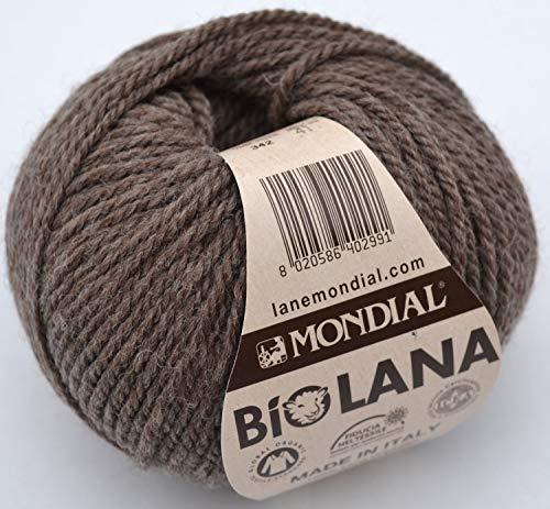 50Gramm Lane Welt Bio-Wolle, Kol 342braun Bio-Wolle Strick Crochet