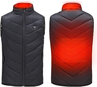 Electric Heated Vest for Boys and Girls, Washable Intelligent Temperature Control USB Charging Heating Clothes,Outdoor Sports,130CM-170CM