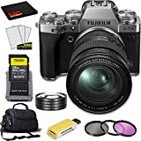 FUJIFILM X-T4 Mirrorless Digital Camera with 16-80mm Lens (Silver) with All Inclusive Bundle