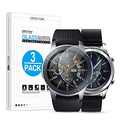 [3 Stück] Schutzfolie für Samsung galaxy Watch 46mm, Samsung galaxy S3 Panzerglas für Samsung Gear S3 Frontier/ Gear S3 Classic/ galaxy Watch 46 MM, Bläschenfrei, Ultra-klar, Anti-Öl