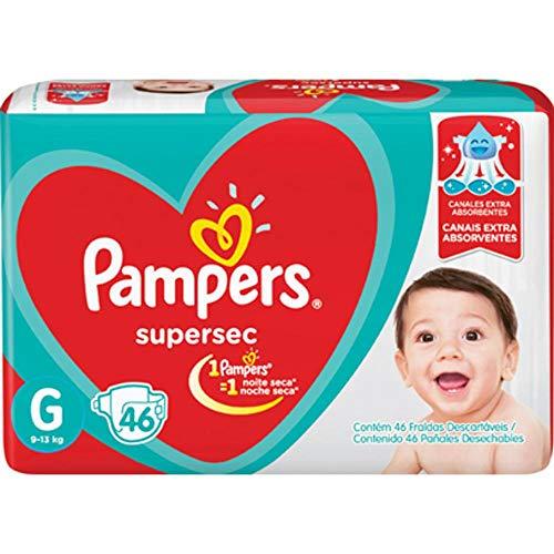 Fralda Infantil Pampers Supersec, com 46 Fraldas Descartáveis, Tamanho G, PAMPERS SUPERSEC