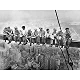 Lunch ATOP A Skyscraper New York 1932 Iconic Photo Extra Large XL Wall Art Poster Print Photographier Mur Impression d'affiches