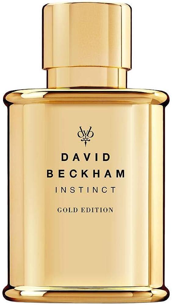 David beckham instinct gold, limited edition, eau de toilette,profumo per uomo,50 ml 32274472000