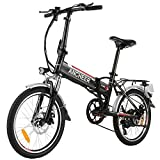 ANCHEER Folding Electric Bike Ebike, 20 Inch...