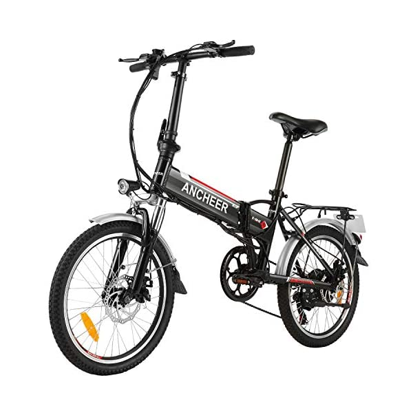 Electric Bikes ANCHEER Folding Electric Bike for Adults, 20″ Electric Bicycle/Commute Ebike with 250W Motor, 36V 8Ah Battery, Professional 7 Speed Transmission Gears (Black) [tag]