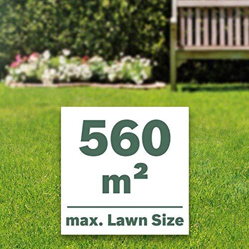 Bosch 06008B9577 Cordless Lawnmower UniversalRotak 36-560 (36 Volt, 2x Battery 2.0 Ah, Cutting Width: 36 cm, Lawns up to 560 m², in Carton packaging)