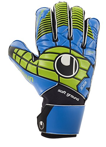 uhlsport Eliminator PRO Guanti da Portiere Nero/Blu/Verde Power