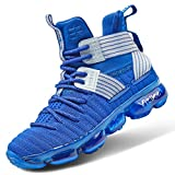 Girls Basketball Culture Shoes Air-cushion Comfortable Kids Basketball Sneakers Youth Hight-top Slip-on Boys Running Shoes Lightweight Big Little Kids Shoes Size 8 Blue Indoor Outdoor Size 11.5 Blue
