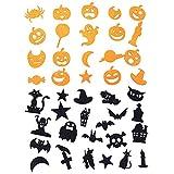 Lifreer Pegatinas de espuma con purpurina para Halloween, artes y manualidades, pegatinas de...