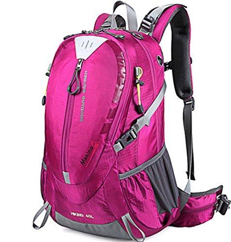 sac à dos d'escalade Femmes de plein air sac à dos de voyage 40L Multifonctionnel Rose