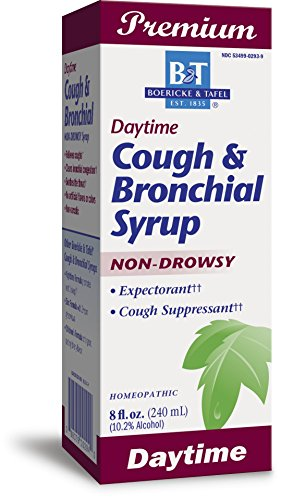 Boericke & Tafel Daytime Cough & Bronchial Syrup Non-Drowsy Homeopathic 8 Ounce