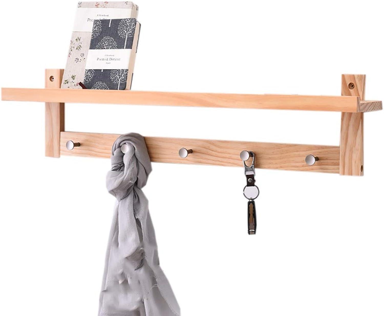 Coat Hook Hanger Wall Hanging Wall Coat Rack Wooden Multi-Function Rack Clothes Hook (Size   5 Hook)
