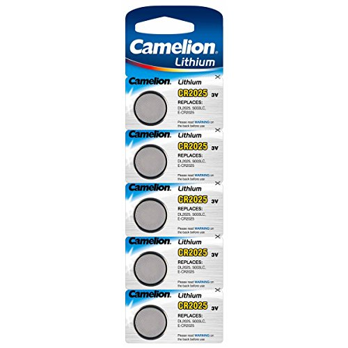 Lithium-Knopfzelle CAMELION CR-2025 3,0V, 5er-Blister