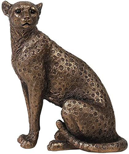 Jaguar Imitación Sala Decoraciones Artesanía Esculturas Estatuas para El Hogar Jardín Oficina Adornos Muebles Figurines Estatua De Resina De Bronce, Vintage Guepardo Escritorio Escultura Oficina Sala
