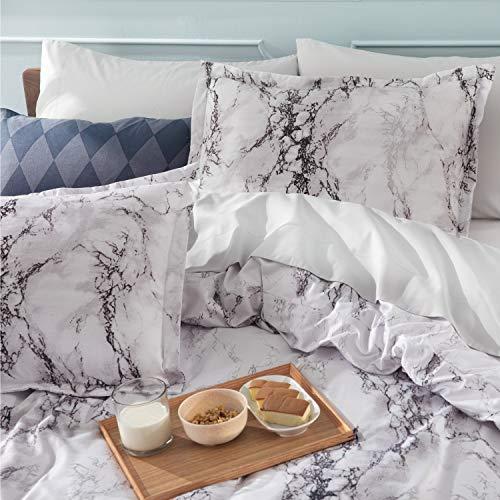 Bedsure Bettbezug Bett 90 Marble - Fund...