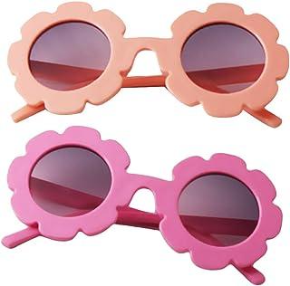 perfeclan - perfeclan Conjunto de 2 gafas de sol para niños gafas de aviador   Niños y niñas   Protección 100% UV 400 4-12 años