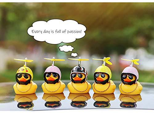 BSGP Auto-Dekoration, kreativ, niedlich, mit Helm, kleine gelbe Ente, Puppe, Auto-Zubehör für Auto, Innendekoration, Fahrräder, Motorräder, Kindergeschenk (Hai) - 5