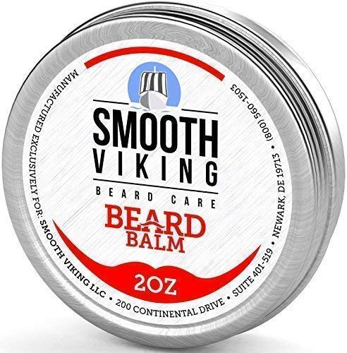 Smooth Viking Beard Balm with Leave-in Conditioner, Styles and Thickens for Healthier Beard...