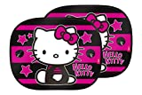 Hello Kitty KIT4051 1 Set di 2 Tendine Parasole Auto Bambini, Universale con Ventose, Star