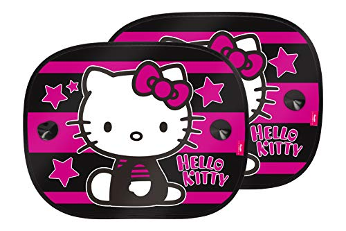 Hello Kitty KIT4051 1 Satz mit 2 seitlichen Sonnenschutzvorhängen