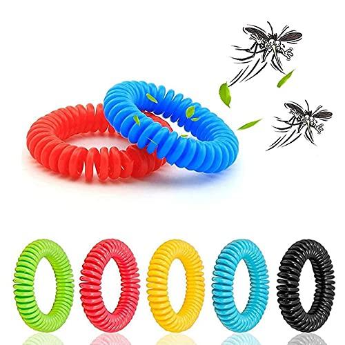 POXE Pulsera repelente de mosquitos de EVA, impermeable, repelente de mosquitos de aceite esencial, bandas de bobina para niños y adultos al aire libre, talla única