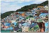 甘川文化村釜山韓国大人のためのジグソーパズル子供1000ピース家族教育ゲーム木製パズルお土産ギフト