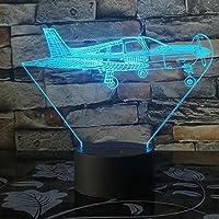 ナイトライト 7彩变光小夜灯 リモコン飛行機3D Ledライト7色変更飛行機戦闘機3Dランプのおもちゃテーブル赤ちゃんUsbランプ子供部屋、寝室の廊下などに適しています。子供たちの愛する同僚、親戚、友人への特別なプレゼントや誕生日プレゼントに最適です。