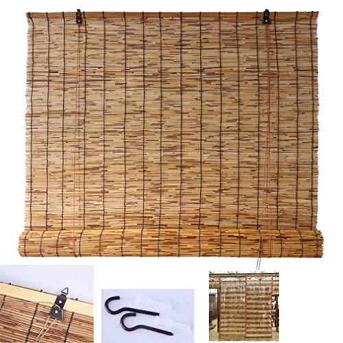 SSB Persianas de bambú Persianas de bambú enrollan la Ventana, Cortina de bambú Natural Cortina de cebolleta, casera de la Sombra de la sombrilla persianas, Transpirable, para al Aire Libre/Patio /