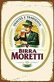Birra Moretti Italiana Cerveza Letreros Novedad Divertidos Letreros de metal...