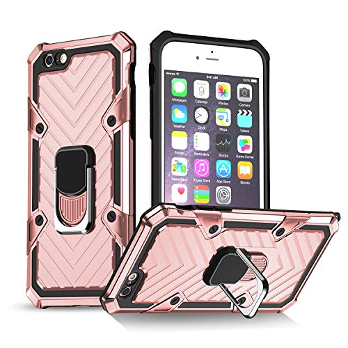 iPhone 6 Plus Case | iPhone 6s Plus Case | Kickstand | [ Military Grade ] 15ft. SGS Anti Drop Tested Protective Case | Compatible for Apple iPhone 6/6s Plus-Rose Gold (iPhone 6/6s Plus)