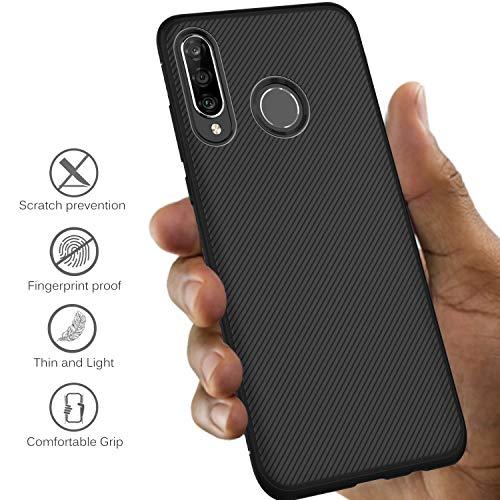 iBetter für Huawei P30 lite Hülle, Ultra Thin Tasche Cover Silikon Handyhülle Stoßfest Case Schutzhülle Shock Absorption Backcover Hüllen passt für Huawei P30 lite Smartphone (Schwarz) - 3