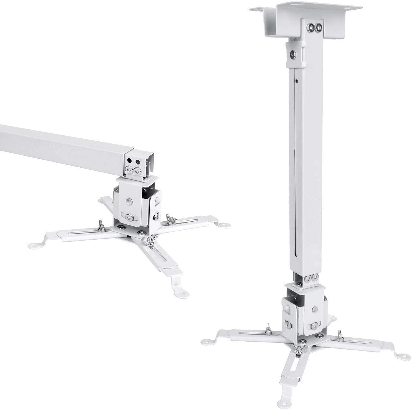 JIFAR Universal LED HD Projector Ceiling Mount Wall Bracket Holder for Different Size Projector